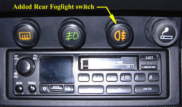 Rear Foglight switch.