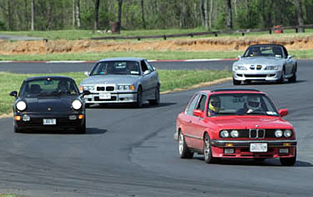 On track at Summit point Raceway West Virginia